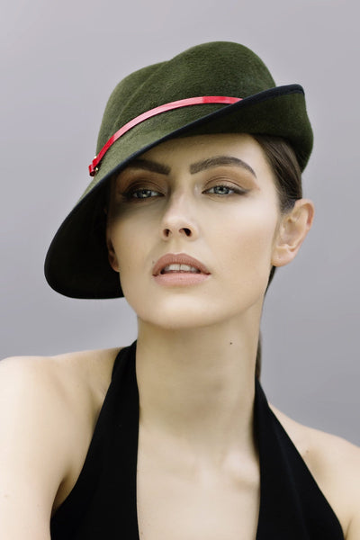 Side Sweep Fedora - Yara - Maggie Mowbray Millinery