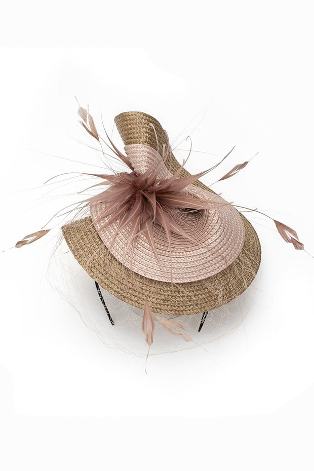Rose Splash Hat in Gold and Pink