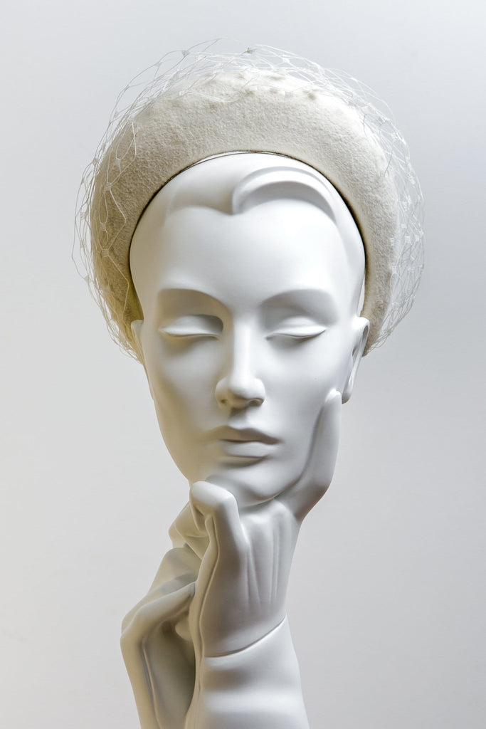 Wedding Halo Headband - Sadia - Maggie Mowbray Millinery