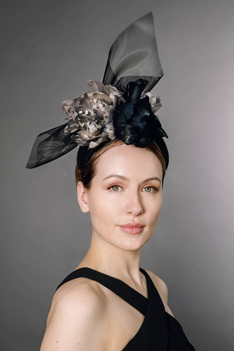 Flower Headpiece -  Nova - Maggie Mowbray Millinery