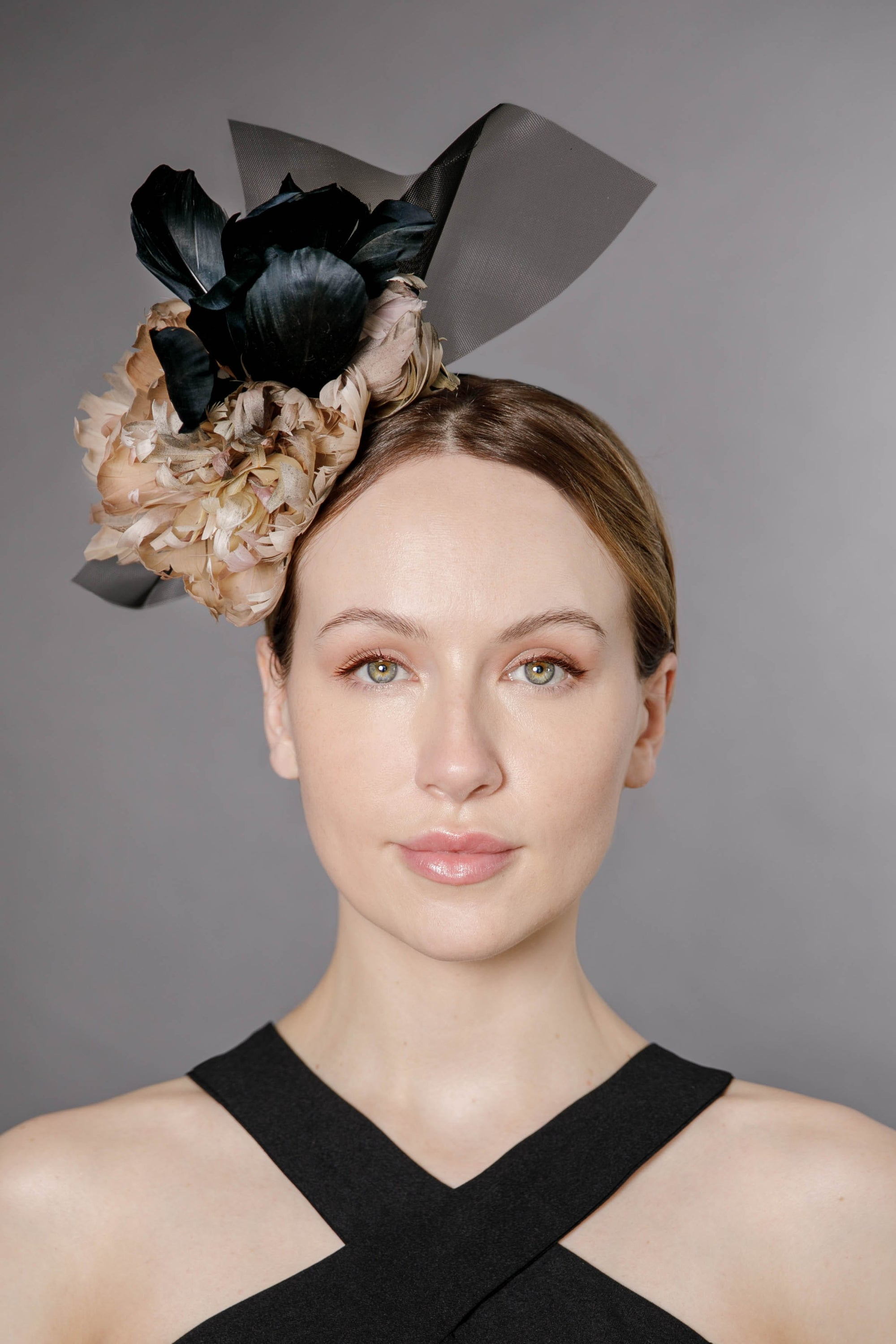 Flower Headpiece -  Romi - Maggie Mowbray Millinery
