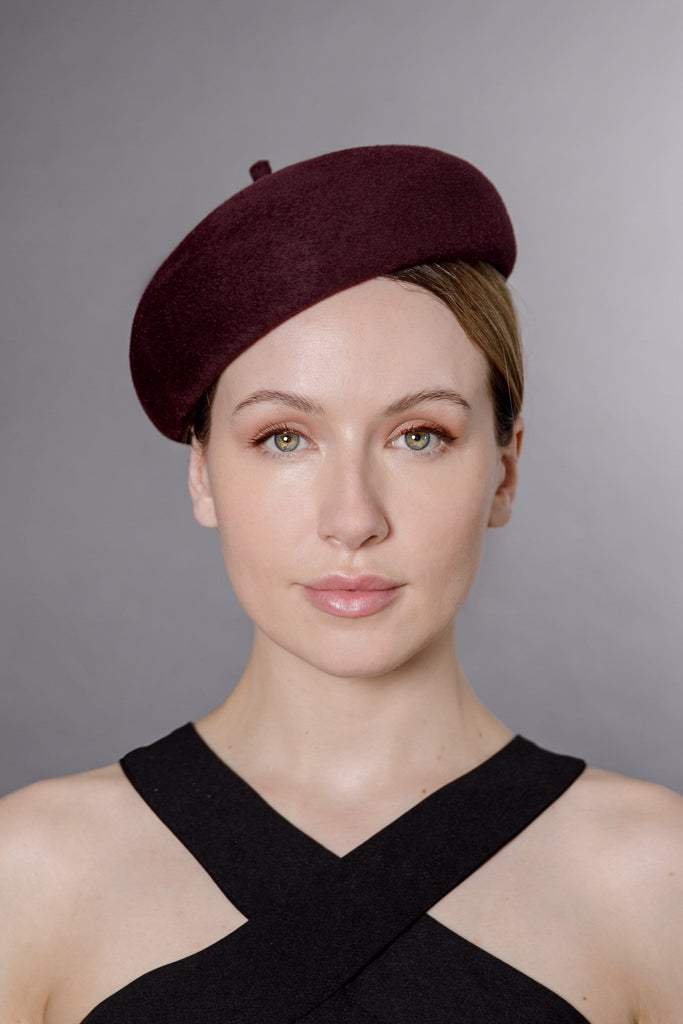 Classic Beret - Kat - Maggie Mowbray Millinery