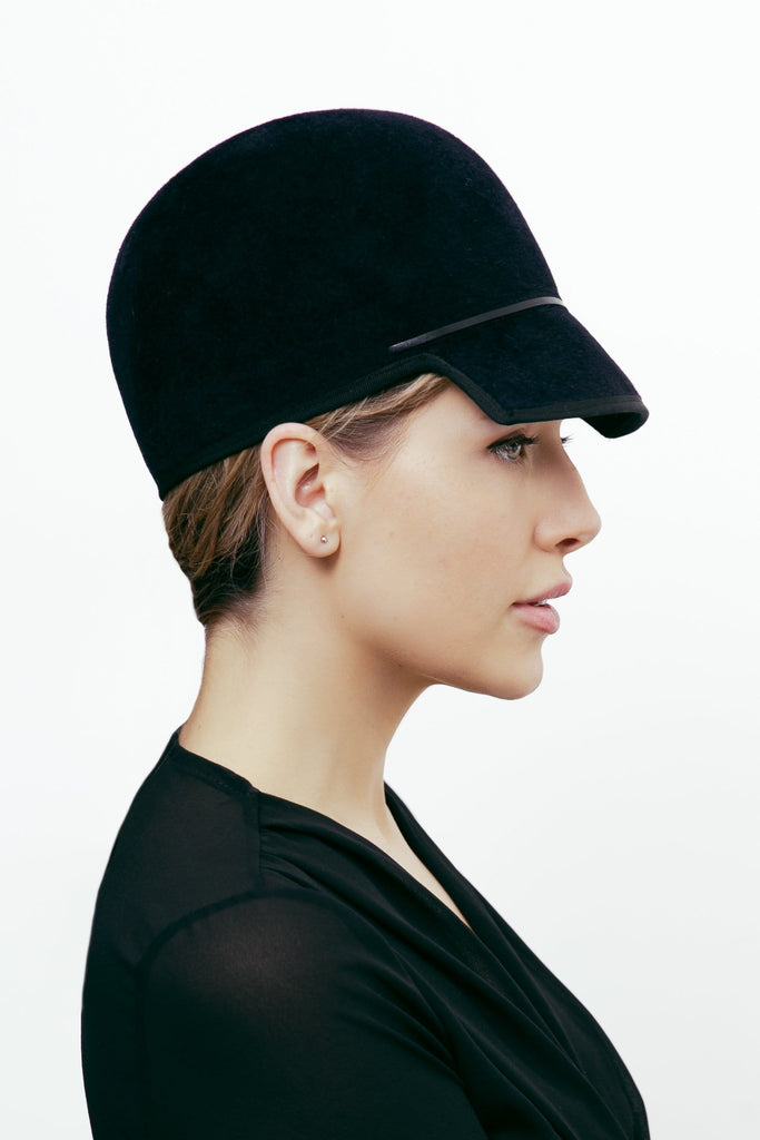 Cap Hat - Adrienne - Maggie Mowbray Millinery