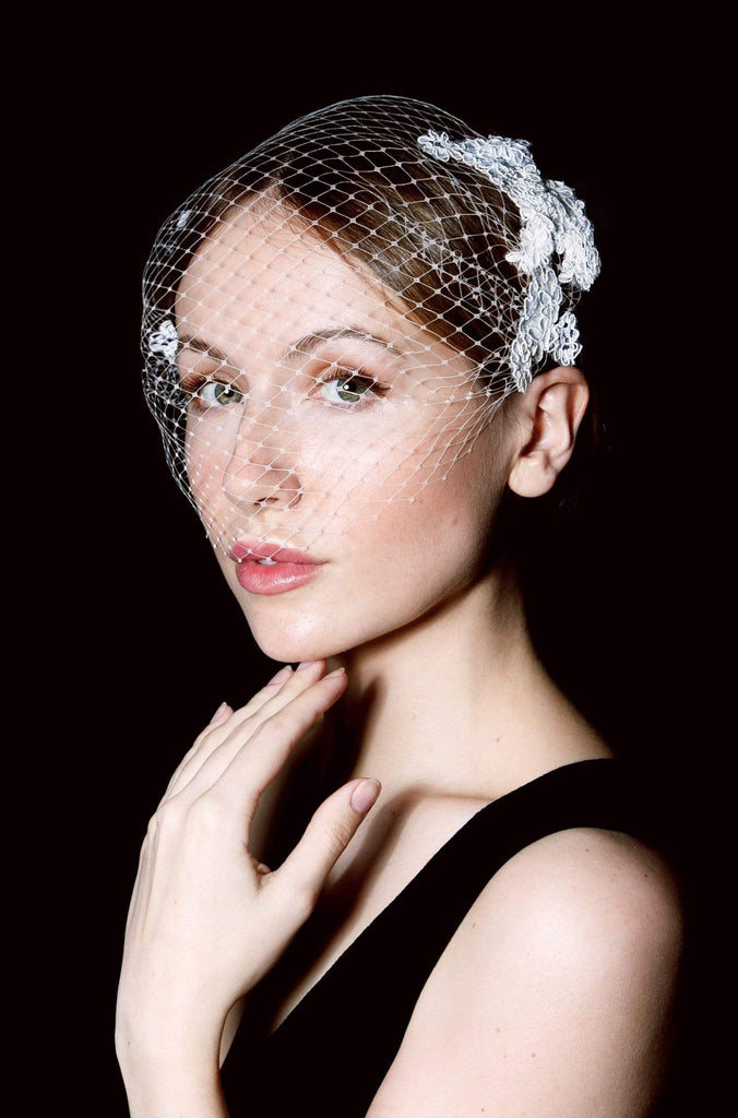 Lace Birdcage Veil - Holli - Maggie Mowbray Millinery