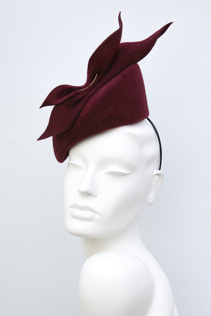 Percher Style Cocktail Hat - Crisanta - Maggie Mowbray Millinery