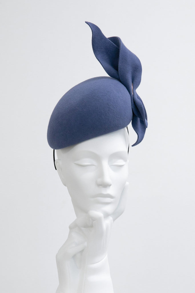 Percher Style Cocktail Hat - Sorrell - Maggie Mowbray Millinery