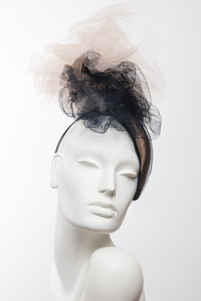 Flourish Cocktail Hat - Maggie Mowbray Millinery