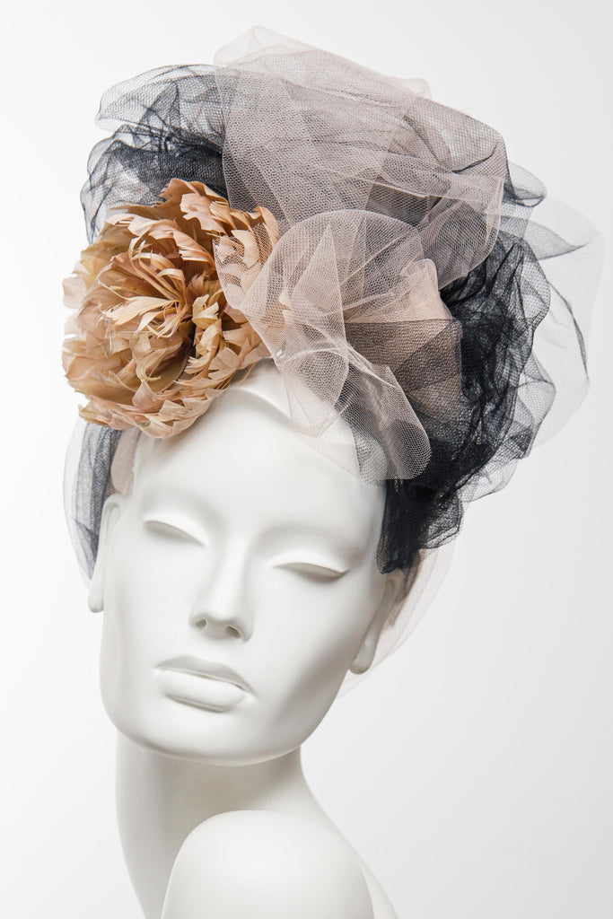 Flourish Head  Wrap - Maggie Mowbray Millinery