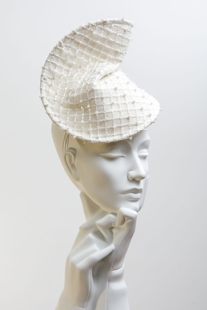 Wedding Hat - Rue - Maggie Mowbray Millinery