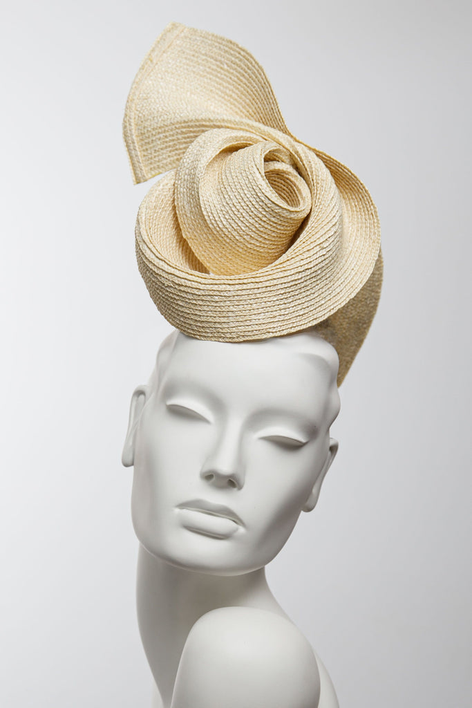 Swirl Cocktail Hat - Maggie Mowbray Millinery