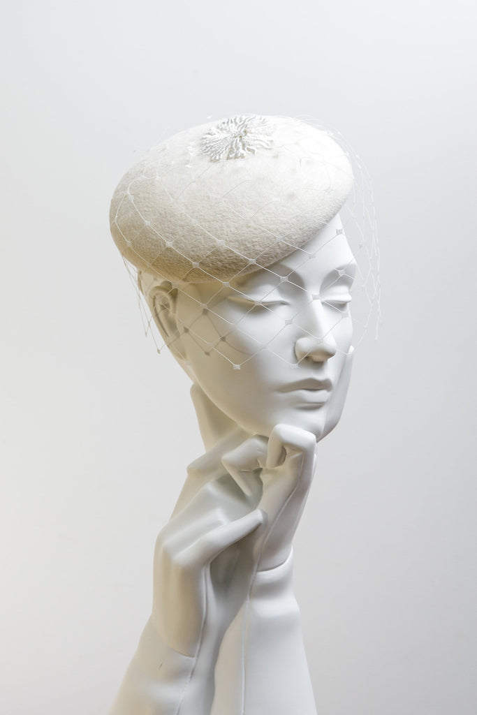 Wedding Veil Hat - Pria - Maggie Mowbray Millinery