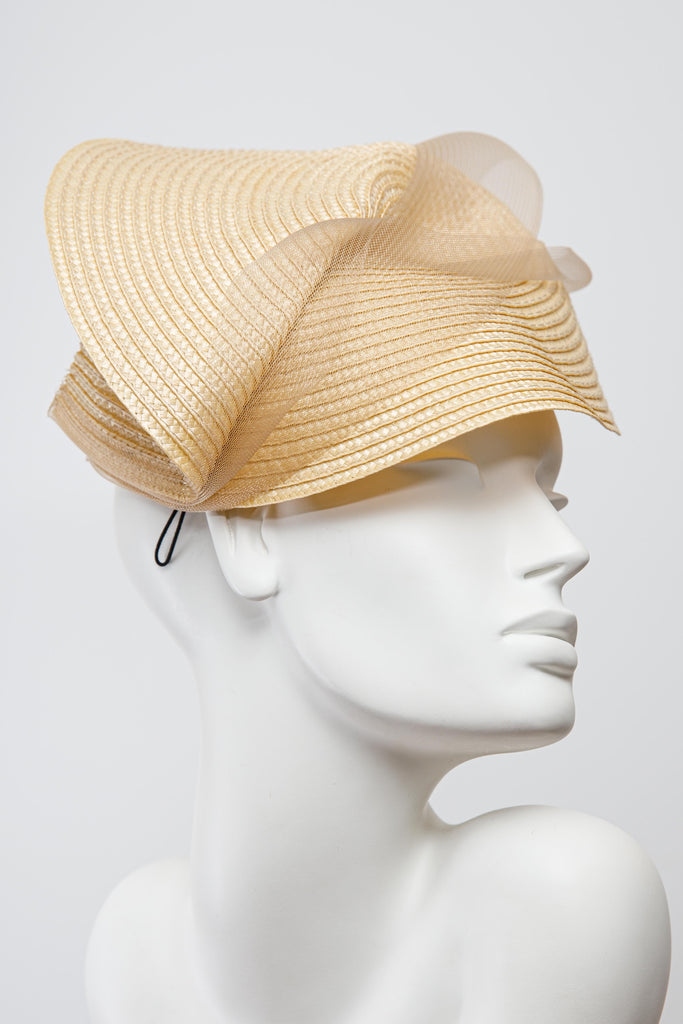 Linea Saucer Hat - Maggie Mowbray Millinery