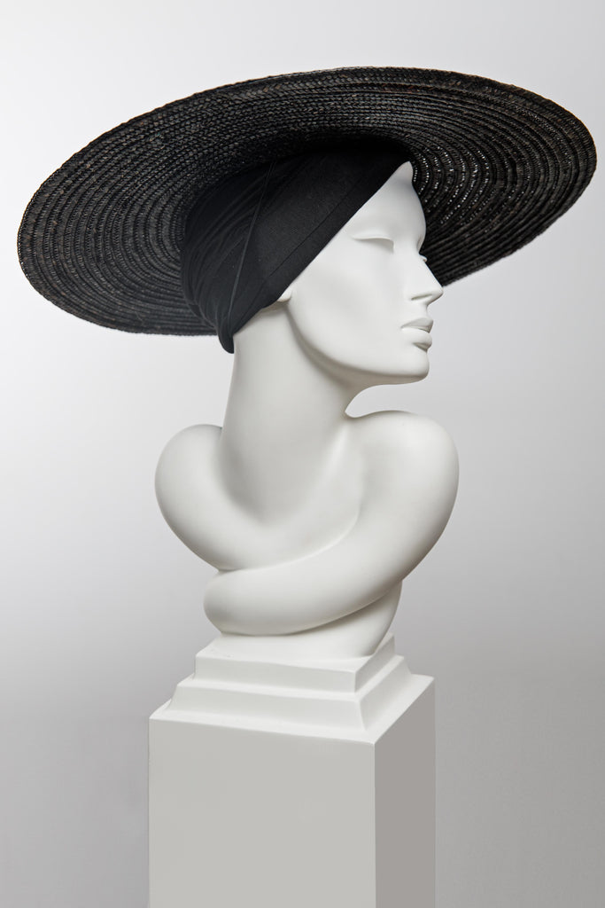 Leipke Wide Brim Hat - Maggie Mowbray Millinery