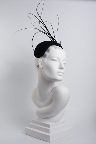 Feathered Headband Fascinator 'Akila' - Maggie Mowbray Millinery