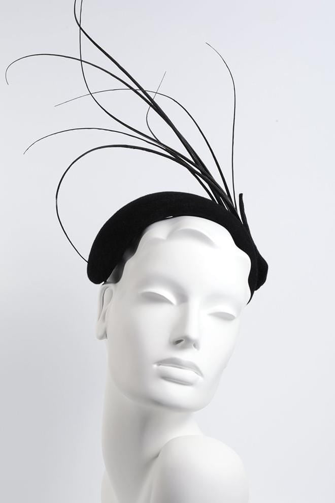 Feathered Headband Fascinator - Akila - Maggie Mowbray Millinery