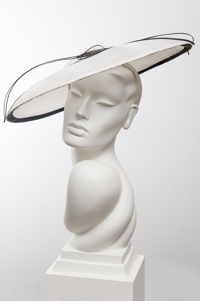 Linea Wide Brim Hat - Maggie Mowbray Millinery