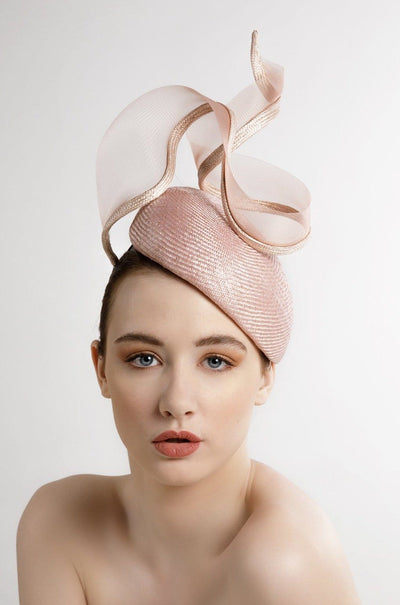 Parisisal Straw Hat with Crin Twist - Margot - Maggie Mowbray Millinery.  Buy luxury hats, hat makers Edinburgh, hats for the races, chic hats, fashion millinery, vintage inspired hats, hat with feathers, feathered hat, hat for women, Ascot hat, dramatic hat, elegant hat for the races, hat for ascot, high fashion hat, editorial hats, hats to stand out, hat ideas for special occasions, fashion for ladies day