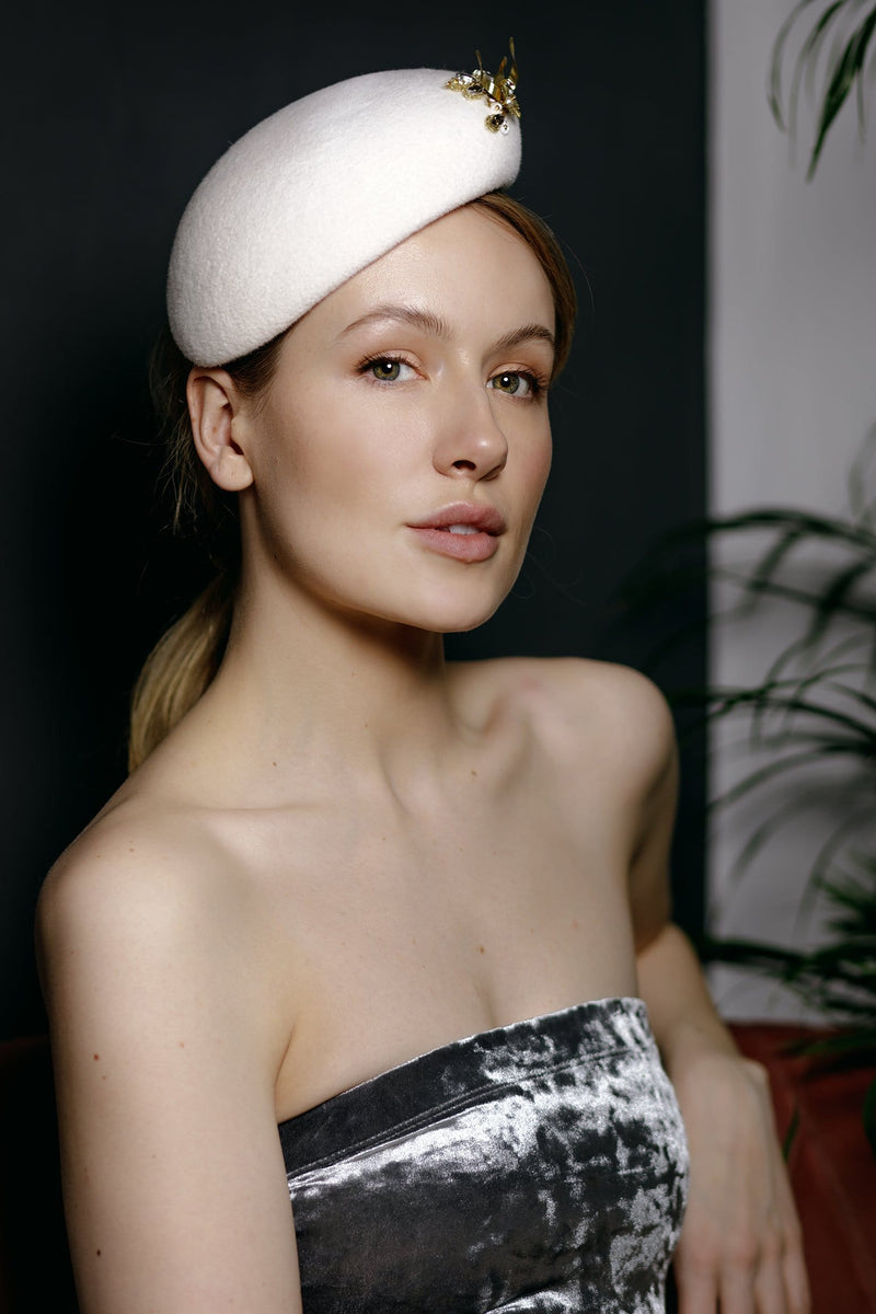 Bridal Perch Hat - Lila