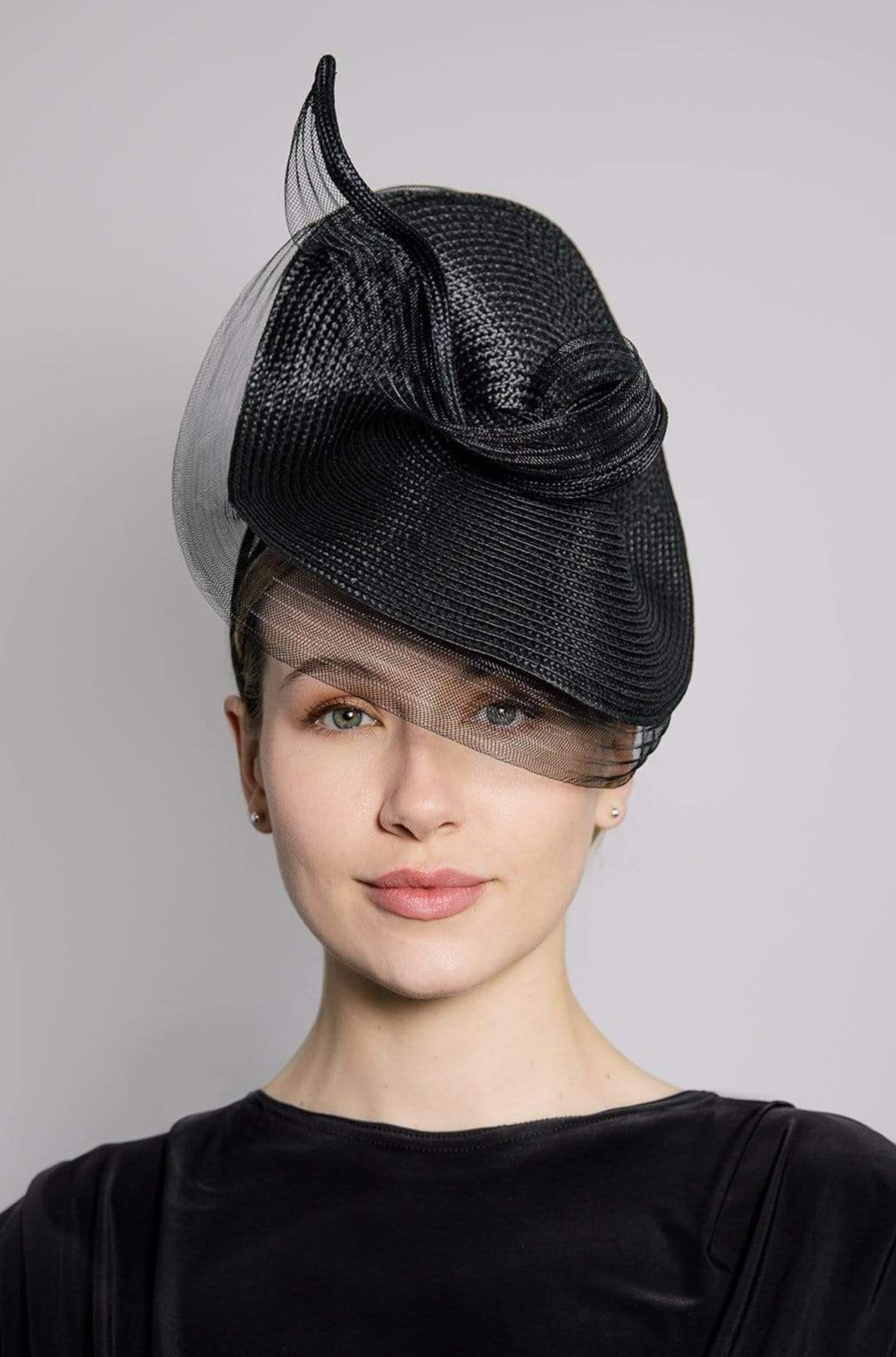 Straw Statement Hat - Misty - Maggie Mowbray Millinery