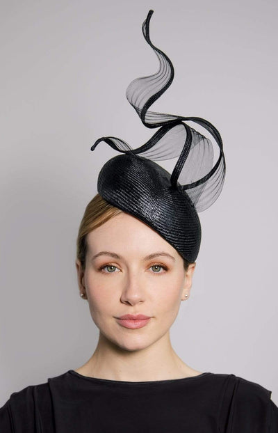 Percher Hat with Twist - Evgenia - Maggie Mowbray Millinery