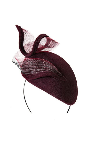 Percher Hat with Twist - Suvi - Maggie Mowbray Millinery