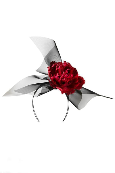 Flower Headpiece -  Kirsi - Maggie Mowbray Millinery