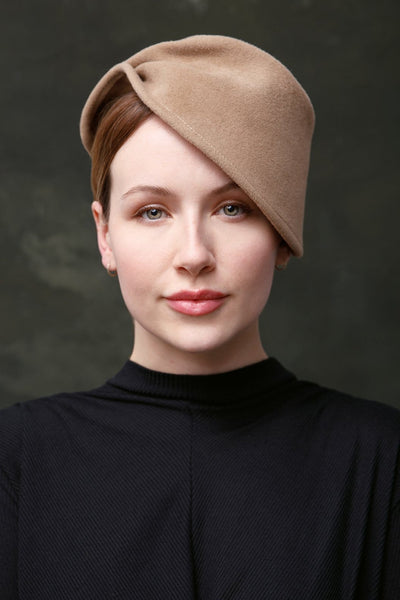 Sculpted winter felt hat for women by Maggie Mowbray Millinery
