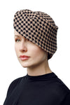 Sculpted Houndstooth Hat - Aine - Maggie Mowbray Millinery