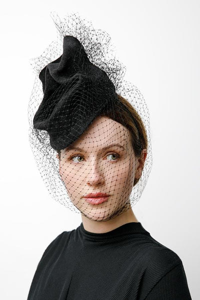 buy luxury hats, hat makers Edinburgh, chic hats, millinery, full face veil, hat with veil, veiled hat, hat for women, birdcage veil hat, dramatic hat, hat for the races, hat for ascot, felt hat, custom hat, fashion hat, editorial hats, online hat shopping, hats to stand out, hat ideas for special occasions, wedding hats, fashion for cheltenham, outfit ideas for ladies day, fashion shoot, milliner in Edinburgh, hat for Kentucky derby, milliners in uk, custom hat maker, cocktail hats, vintage style, 1940s
