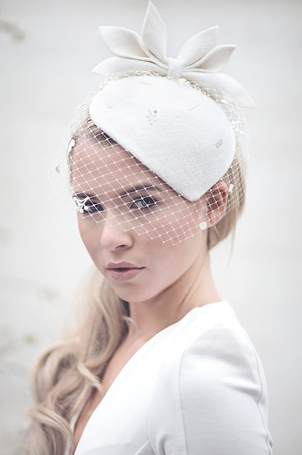 Wedding Hat - Siobhán - Maggie Mowbray Millinery