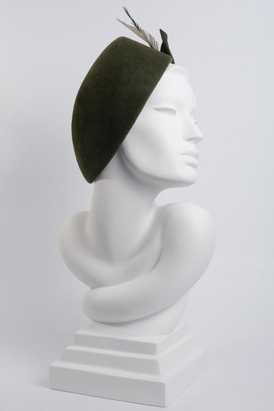 Side Sweep Beret - Bastina - Maggie Mowbray Millinery