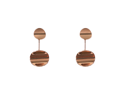 Organic Shape Pebble Earrings Rose Gold