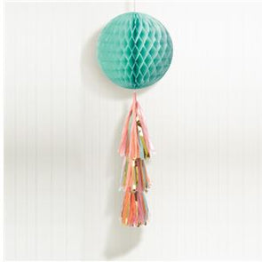 Pastel Honeycomb Ball with Tassel Tail