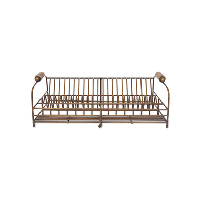 Brompton Antique Brass Dish Rack