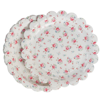 La Petite Rose Tea Party Plates