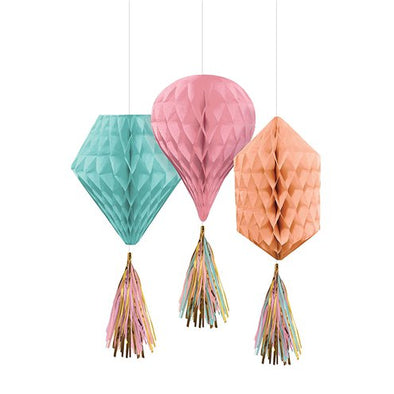 Pastel Hanging Honeycomb Decorations