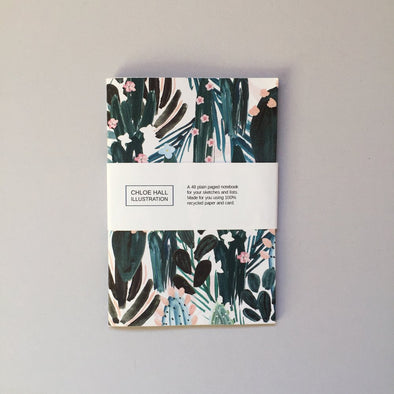 Chloe Hall Wild Cactus A6 Notebook
