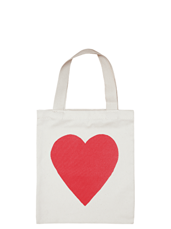 Mini Red Heart Tote Bag