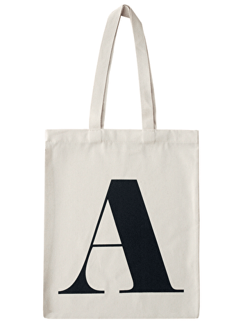 Initial Cotton Tote Bag 'A'