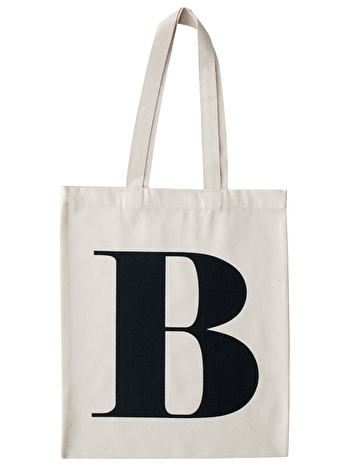 Initial Cotton Tote Bag 'B'
