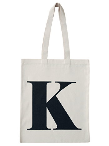 Initial Cotton Tote Bag 'K'