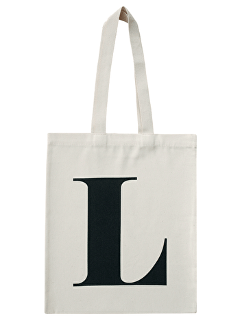 d09ad8796 Initial Cotton Tote Bag 'L' - Alphabet Bags – Hare & Home