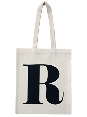 Initial Cotton Tote Bag 'R'