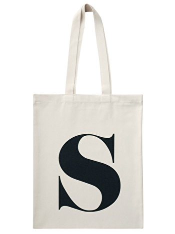 Initial Cotton Tote Bag 'S'