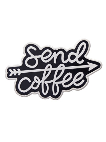Send Coffee Enamel Pin Badge