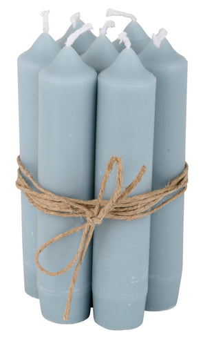 Light Blue Short Dinner Candle