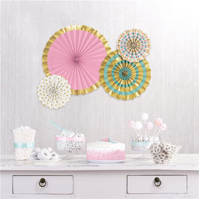 Pastel & Gold Paper Fan Kit