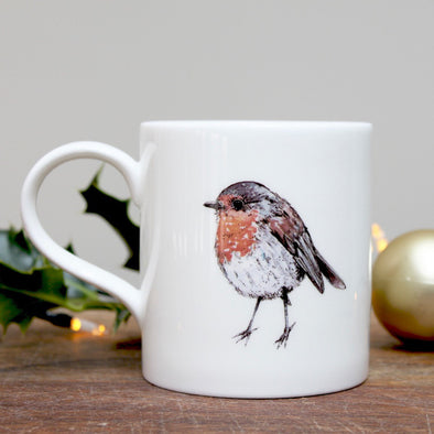 Tableware - Bone China Robin Mug