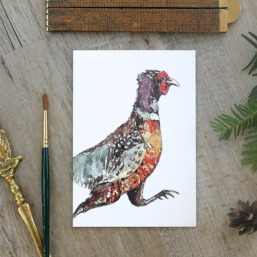 Running Pheasant Note Card