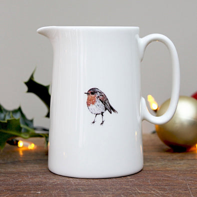 Tableware - Bone China Robin 1/2 Pint Jug
